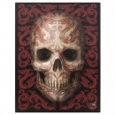 Oriental Skull Wall Plaque By Anne Stokes