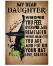 My Dear Daughter Put On Your Hat Witch Grandpa Vertical Poster