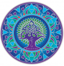 Sunseal decal Earth Mandala