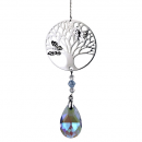 Tree of Life crystal string & rainbow drop violet