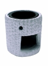 Oil Burner Ceramic Round Grey