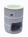 Oil Burner Ceramic Round _Vit/Gray