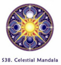 Window Sticker Celestial Mandala