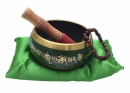 Singing Bowl Buddha 12cm Green