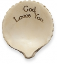 God Loves You Message Shell Angel Star