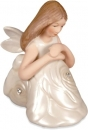 Contemplation Sitting Figurine Rose Angel by Angel Star