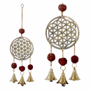 Wind chime Flower of life with Rudraksha beads
