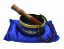 Singing Bowl Buddha 12cm Blue