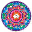 Sunseal decal Lotus Heart Mandala
