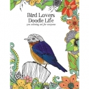 Bird Lovers Doodle Life Colouring Book Tree Free